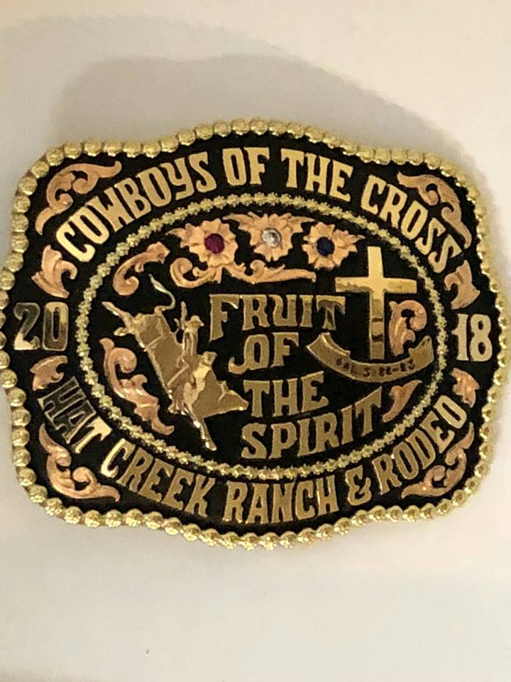 Contestants at a weekly bull riding in Van Wert, Ohio (Hat Creek Ranch) decided who would get this buckle based on bull riders who demonstrated fruit of the Spirit in their life.