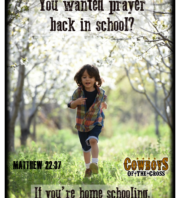 We can bring prayer back to school through our kids